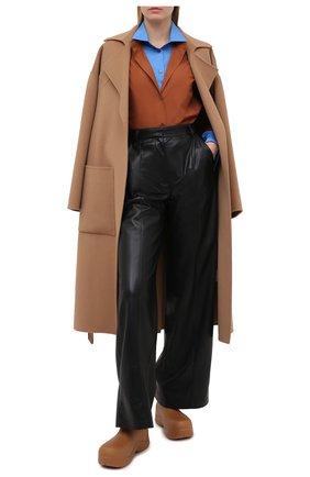 Женская хлопковая рубашка N21 коричневого цвета, арт. 20I N2S0/G031/0605 | Фото 2