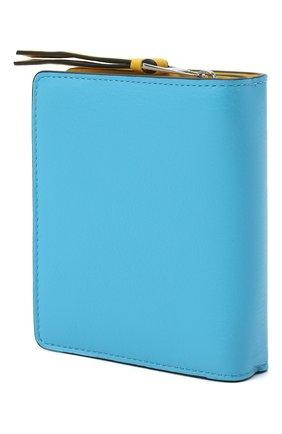 Женский кожаный футляр для кредитных карт LOEWE голубого цвета, арт. C643Z41X01   Фото 2