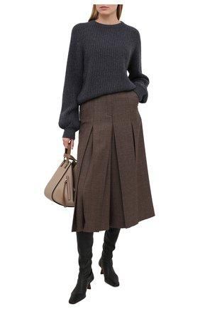 Женский кашемировый свитер FTC серого цвета, арт. 810-0070 | Фото 2