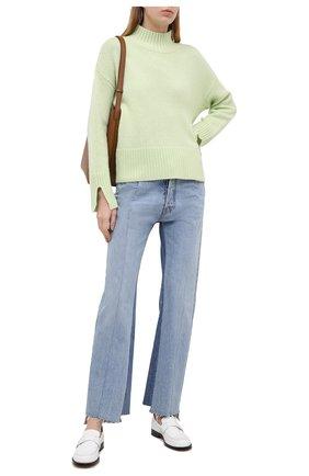 Женский кашемировый свитер FTC зеленого цвета, арт. 810-0250   Фото 2