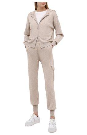 Женские джоггеры FTC бежевого цвета, арт. 816-0300 | Фото 2