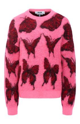 Женский свитер MSGM фуксия цвета, арт. 2942MDM228 207953 | Фото 1