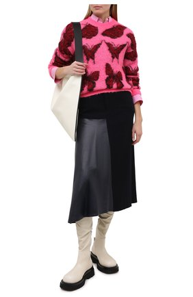 Женский свитер MSGM фуксия цвета, арт. 2942MDM228 207953 | Фото 2