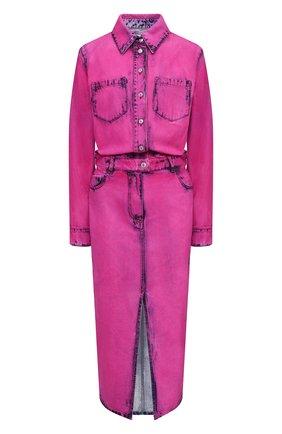 Женское джинсовое платье MSGM фуксия цвета, арт. 2942MDA142LC 207967 | Фото 1