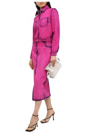 Женское джинсовое платье MSGM фуксия цвета, арт. 2942MDA142LC 207967 | Фото 2