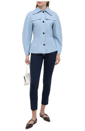 Женские шерстяные брюки LORO PIANA синего цвета, арт. FAL3914 | Фото 2