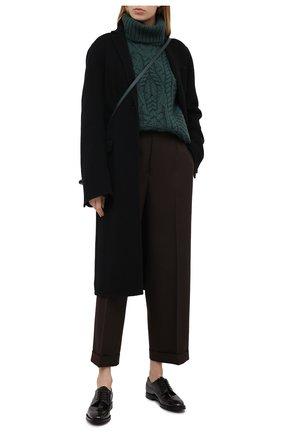 Женская кожаные оксфорды CHURCH'S коричневого цвета, арт. DE0198/9ADR   Фото 2
