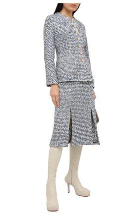 Женский жакет ST. JOHN серого цвета, арт. K611001 | Фото 2