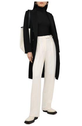 Женские шерстяные брюки ST. JOHN кремвого цвета, арт. K8110A1 | Фото 2