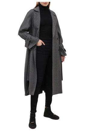 Женские кожаные кеды RUBEUS MILANO черного цвета, арт. 001/16K | Фото 2