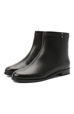 Женские кожаные ботинки RUBEUS MILANO черного цвета, арт. RU8 | Фото 1