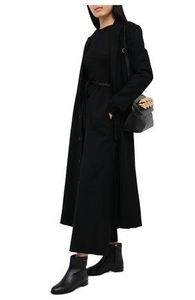 Женские кожаные ботинки RUBEUS MILANO черного цвета, арт. RU8 | Фото 2
