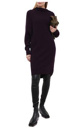 Женское кашемировое платье PETAR PETROV фиолетового цвета, арт. K0SMA F20KD2 | Фото 2