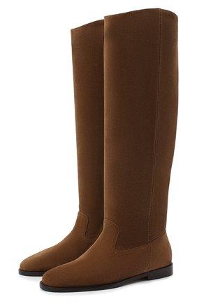Женские замшевые сапоги bree JIMMY CHOO коричневого цвета, арт. BREE FLAT/SUE | Фото 1