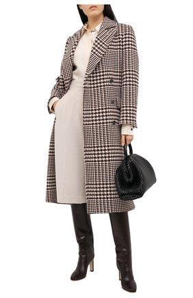 Женские кожаные сапоги mahesa 85 JIMMY CHOO коричневого цвета, арт. MAHESA 85/WLZ | Фото 2