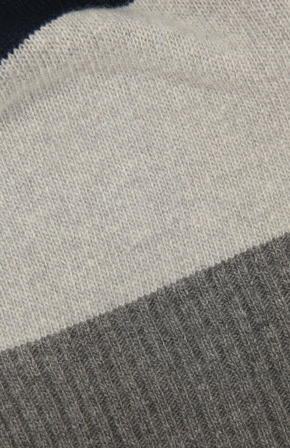 Детский шерстяной шарф IL GUFO серого цвета, арт. A20SP115EM220 | Фото 2