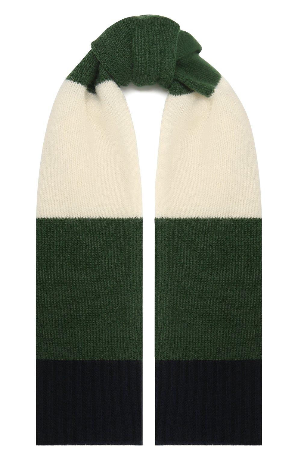 Детский шерстяной шарф IL GUFO зеленого цвета, арт. A20SP115EM220 | Фото 1