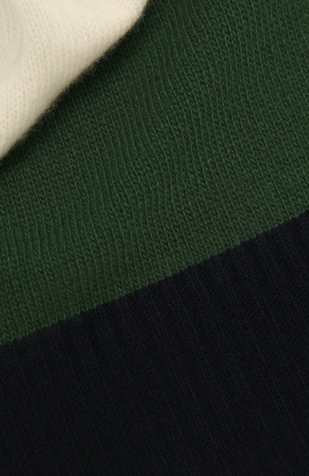 Детский шерстяной шарф IL GUFO зеленого цвета, арт. A20SP115EM220 | Фото 2