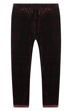 Детские хлопковые брюки BRUNELLO CUCINELLI бордового цвета, арт. BQ401S500C   Фото 2 (Материал внешний: Хлопок; Мальчики Кросс-КТ: Брюки-одежда; Ростовка одежда: 12 лет   152 см)