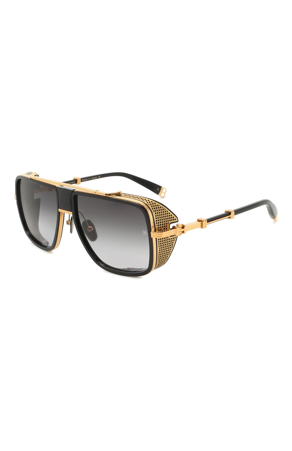 Мужские солнцезащитные очки BALMAIN черного цвета, арт. BPS-104A | Фото 1