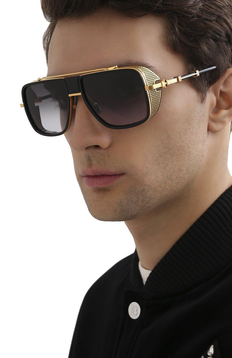 Мужские солнцезащитные очки BALMAIN черного цвета, арт. BPS-104A | Фото 2