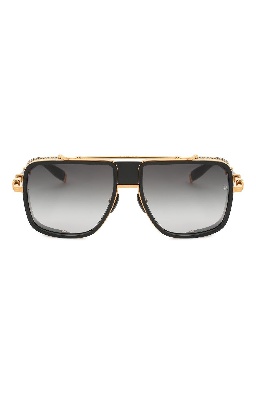 Мужские солнцезащитные очки BALMAIN черного цвета, арт. BPS-104A | Фото 3