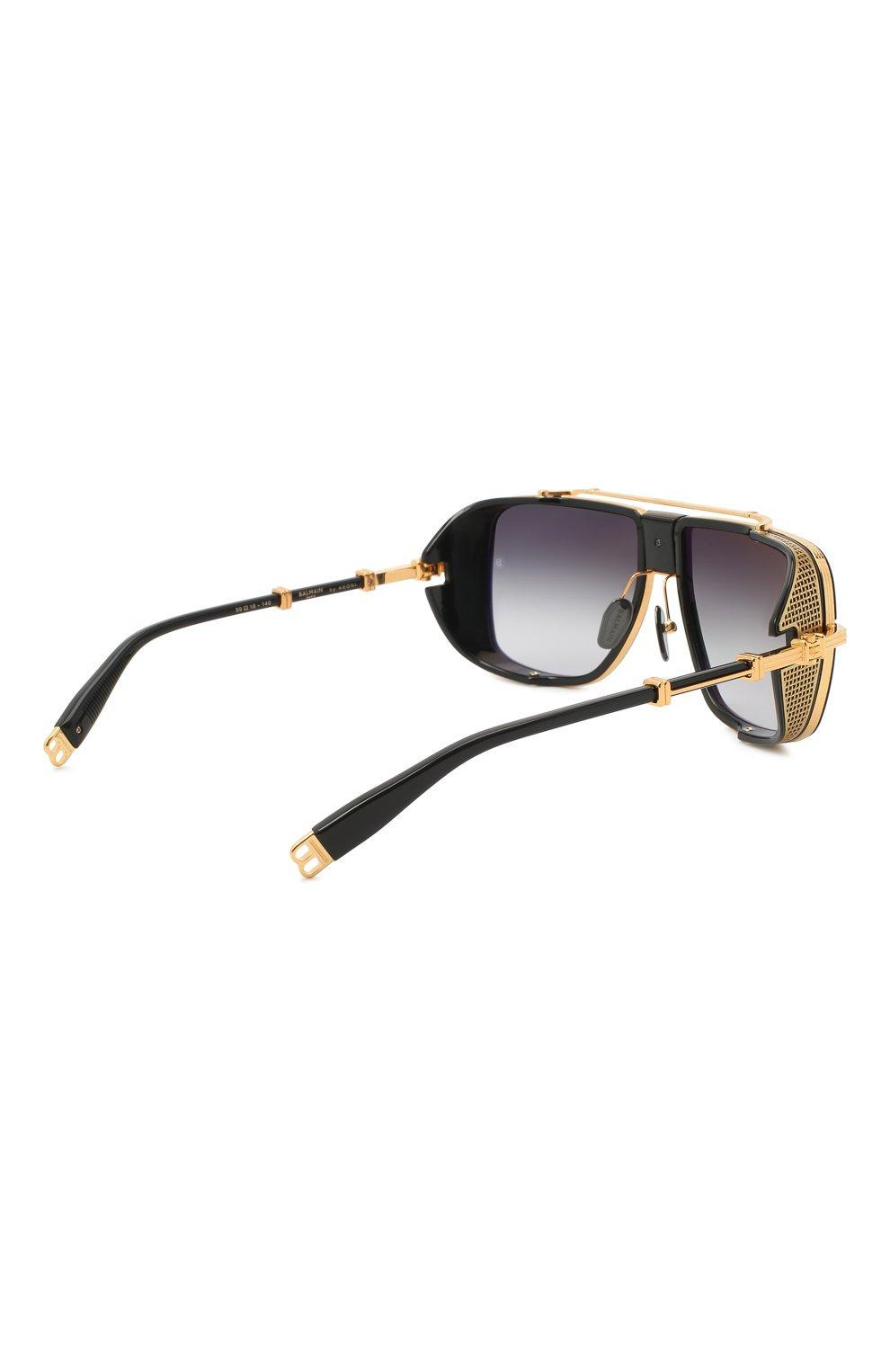 Мужские солнцезащитные очки BALMAIN черного цвета, арт. BPS-104A | Фото 4