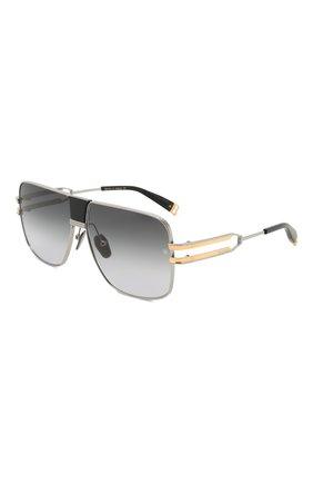 Мужские солнцезащитные очки BALMAIN серого цвета, арт. BPS-103B | Фото 1