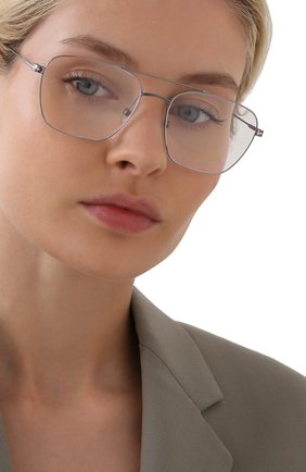Женские оправа TOM FORD серебряного цвета, арт. TF5604 008 | Фото 2 (Тип очков: Оправа; Оптика Гендер: оптика-унисекс; Очки форма: Прямоугольные)