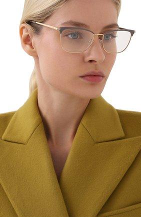 Женские оправа PRADA золотого цвета, арт. 57WV-03H101 | Фото 2 (Тип очков: Оправа; Очки форма: Cat-eye; Оптика Гендер: оптика-женское)