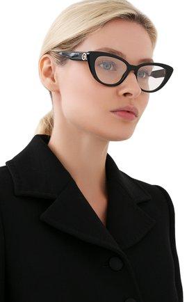 Женские оправа VERSACE черного цвета, арт. 3286-GB1   Фото 2 (Тип очков: Оправа; Оптика Гендер: оптика-женское; Очки форма: Cat-eye)