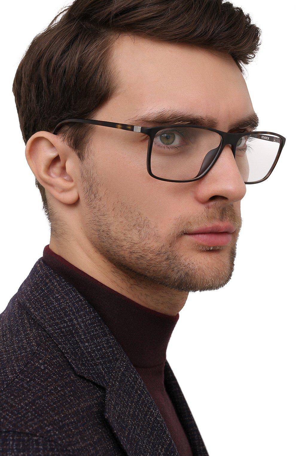 Мужские оправа STARCK EYES коричневого цвета, арт. 3030-0002 | Фото 2 (Тип очков: Оправа; Очки форма: Прямоугольные; Оптика Гендер: оптика-мужское)