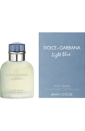 Мужской туалетная вода light blue pour homme (40ml) DOLCE & GABBANA бесцветного цвета, арт. 3020525DG | Фото 1 (Ограничения доставки: flammable)