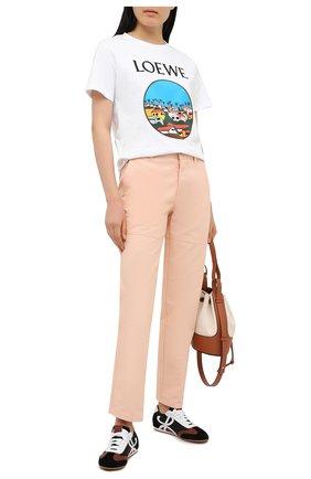 Женские джинсы LOEWE розового цвета, арт. S897Y04X02 | Фото 2