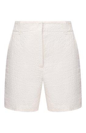 Женские льняные шорты GIORGIO ARMANI белого цвета, арт. 0WHPB00G/T022Q | Фото 1