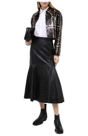 Женский жакет из шерсти и шелка VALENTINO черного цвета, арт. UB3CE2101CF | Фото 2