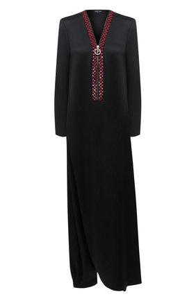Женское шелковое платье GIORGIO ARMANI черного цвета, арт. 0WHVR02Q/T0246 | Фото 1
