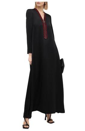 Женское шелковое платье GIORGIO ARMANI черного цвета, арт. 0WHVR02Q/T0246 | Фото 2