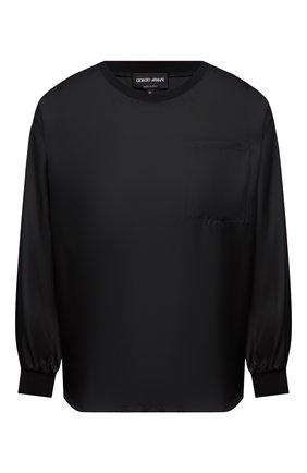 Женская шелковая блузка GIORGIO ARMANI черного цвета, арт. 0WHCCZ04/TZ653 | Фото 1