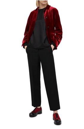 Женская шелковая блузка GIORGIO ARMANI черного цвета, арт. 0WHCCZ04/TZ653 | Фото 2