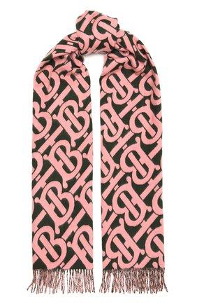Мужские кашемировый шарф BURBERRY розового цвета, арт. 8036322 | Фото 1