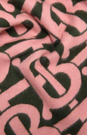 Мужские кашемировый шарф BURBERRY розового цвета, арт. 8036322 | Фото 2