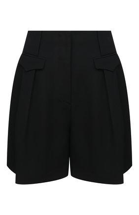 Женские шорты из вискозы и шелка GIORGIO ARMANI черного цвета, арт. 0WHPP0ER/T008A | Фото 1