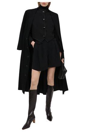 Женские шорты из вискозы и шелка GIORGIO ARMANI черного цвета, арт. 0WHPP0ER/T008A | Фото 2