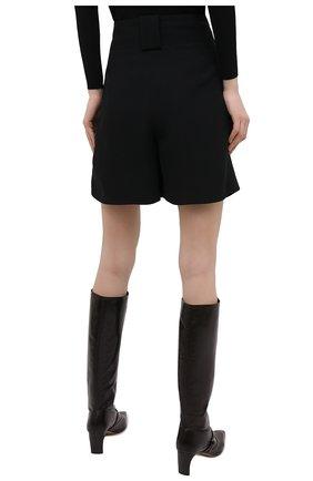Женские шорты из вискозы и шелка GIORGIO ARMANI черного цвета, арт. 0WHPP0ER/T008A   Фото 4 (Женское Кросс-КТ: Шорты-одежда; Материал внешний: Шелк, Вискоза; Длина Ж (юбки, платья, шорты): Мини; Материал подклада: Купро; Стили: Кэжуэл)