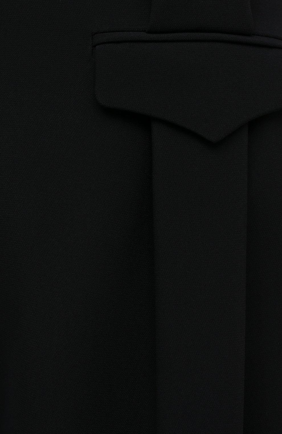 Женские шорты из вискозы и шелка GIORGIO ARMANI черного цвета, арт. 0WHPP0ER/T008A   Фото 5 (Женское Кросс-КТ: Шорты-одежда; Материал внешний: Шелк, Вискоза; Длина Ж (юбки, платья, шорты): Мини; Материал подклада: Купро; Стили: Кэжуэл)