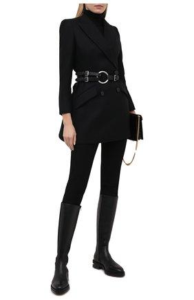Женское шерстяное пальто ALEXANDER MCQUEEN черного цвета, арт. 636363/QJAAN   Фото 2