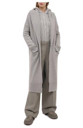 Женский кашемировый кардиган RALPH LAUREN серого цвета, арт. 290816567 | Фото 2