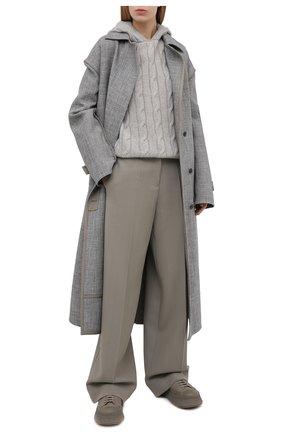 Женская кашемировое худи RALPH LAUREN серого цвета, арт. 290815989 | Фото 2