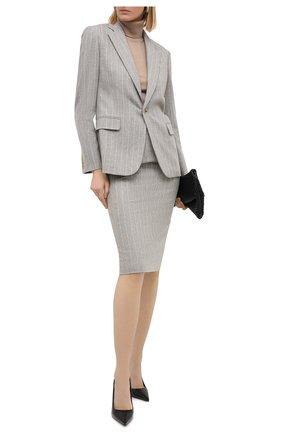 Женский шерстяной жакет RALPH LAUREN серого цвета, арт. 290815805 | Фото 2